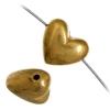 Beads Metalized Heart Plain 8X10mm Gold